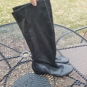 Kenneth Cole Reaction Bard Walk black leather boot